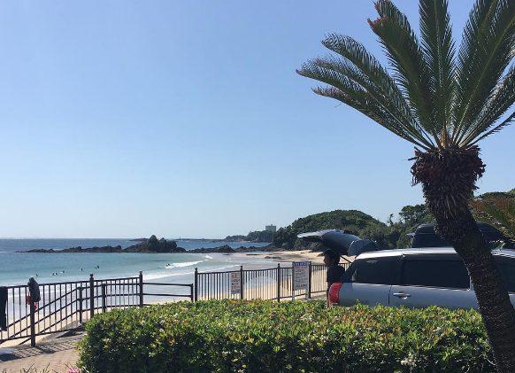 湘南のお得な海沿い駐車場 サーフィン、海水浴に最適