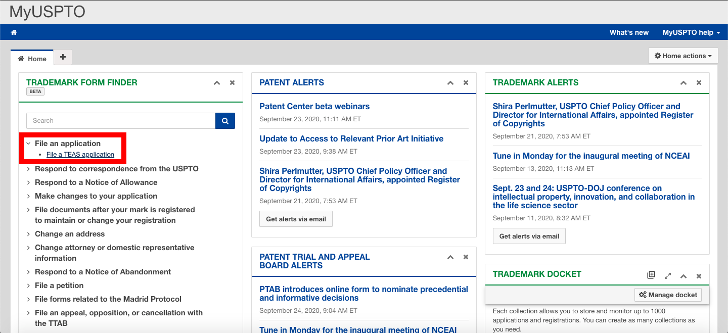 Uspto Dashboard