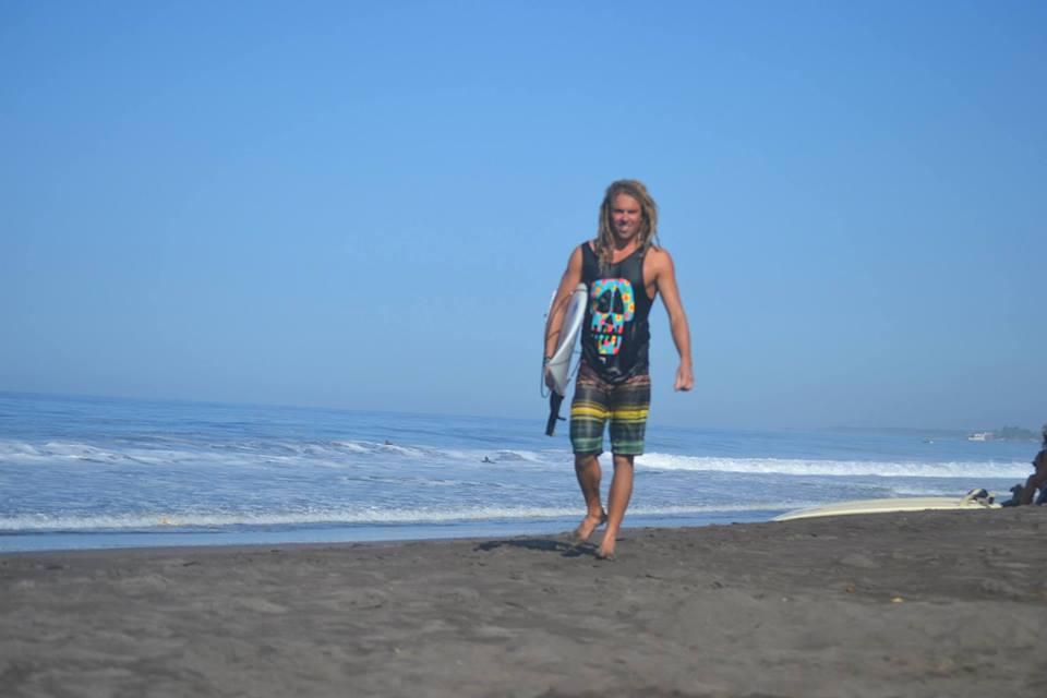 adam on the beach