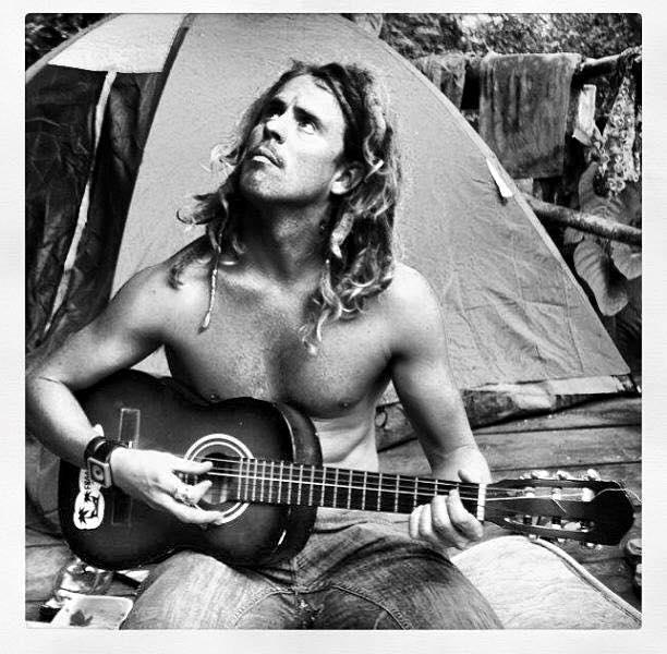adam with guitars